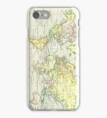 Vintage Map of The World (1899) iPhone Case/Skin