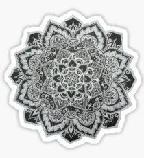 B&W Mandala Sticker