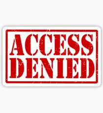 ACCESS DENIED Sticker