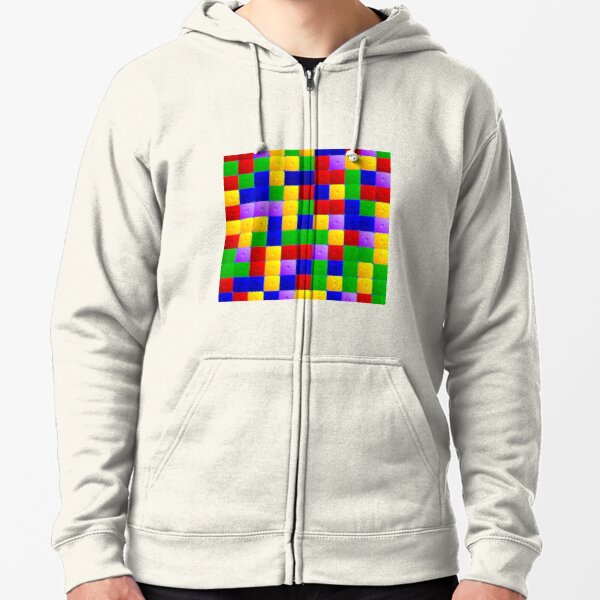Colored squares Zipped Hoodie