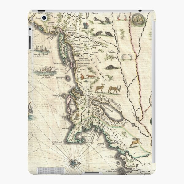 Vintage Map of New England (1635) iPad Snap Case