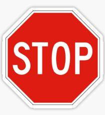 Stop Sign, USA Sticker