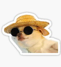 chill dog Sticker