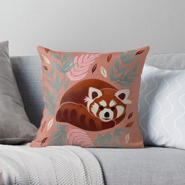 Red Panda - Retro Drama Throw Pillow