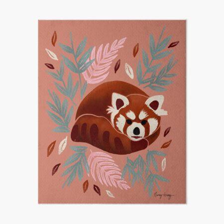 Red Panda - Retro Drama Art Board Print