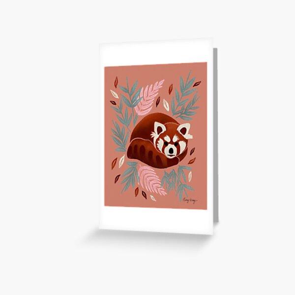 Red Panda - Retro Drama Greeting Card