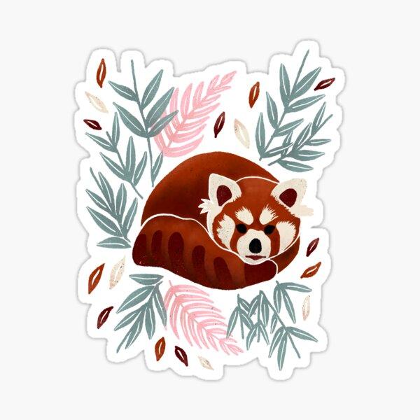 Red Panda - Retro Drama Sticker