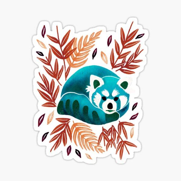 Red Panda - Blue Tone Sticker