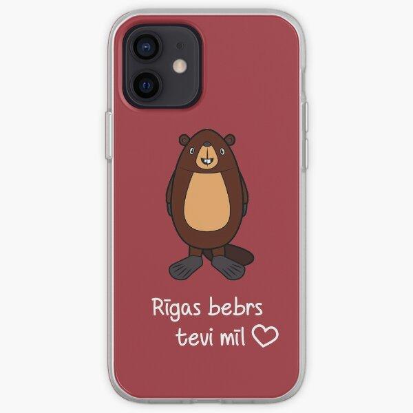 Riga Beaver loves you iPhone Soft Case