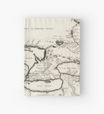 Vintage Map of The Great Lakes (1744) Hardcover Journal