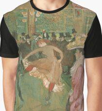 Henri de Toulouse-Lautrec  - At the Moulin Rouge The Dance (1890)Woman Portrait Fashion Graphic T-Shirt