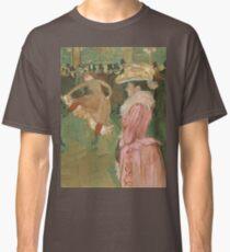 Henri de Toulouse-Lautrec  - At the Moulin Rouge The Dance (1890)Woman Portrait Fashion Classic T-Shirt