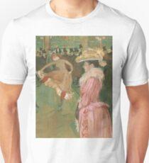 Henri de Toulouse-Lautrec  - At the Moulin Rouge The Dance (1890)Woman Portrait Fashion T-Shirt