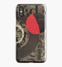Black & white & red all over iPhone Case/Skin