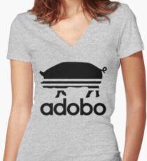 Pork Adobo Women's Fitted V-Neck T-Shirt