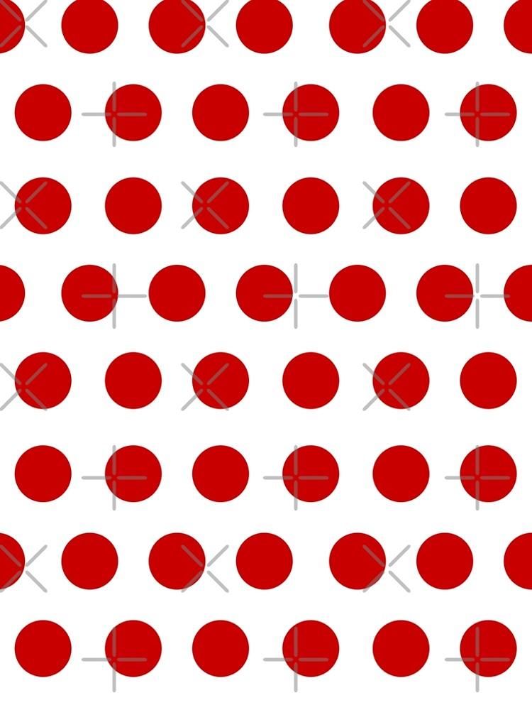 Red Polka Dot Pattern by RabbitLair