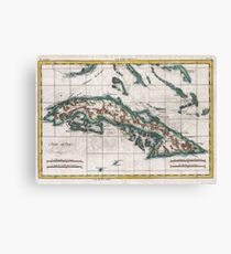 Vintage Map Of Cuba Canvas Prints Redbubble - Vintage map of cuba