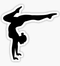 B&W Contortionist Sticker