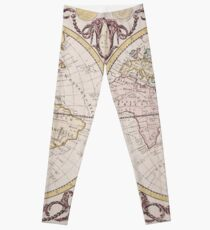 Vintage Map of The World (1782) Leggings