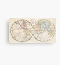 Old world map drawing metal prints redbubble vintage map of the world 1798 metal print gumiabroncs Images