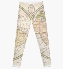 Vintage Map of The World (1798) Leggings