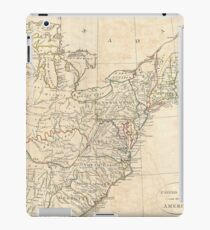 Vintage Map of Early America (1799) iPad Case/Skin