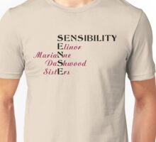 KRW Sense and Sensibility Sisters Unisex T-Shirt