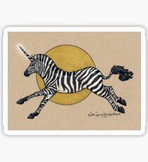 Inktober #30 - The Zebricorn Sticker