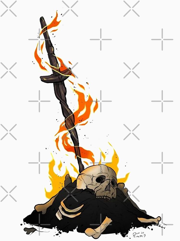darksouls bonfire  by jigsauce-