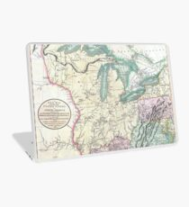 Vintage Map of The Great Lakes & Midwest (1801) Laptop Skin