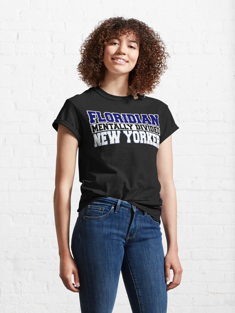 Alternate view of Floridian Mentally Divided New Yorker Classic T-Shirt