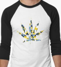 Mighican Weed Leaf Men's Baseball ¾ T-Shirt
