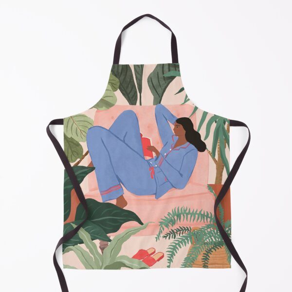 Reading with the Plants II Apron