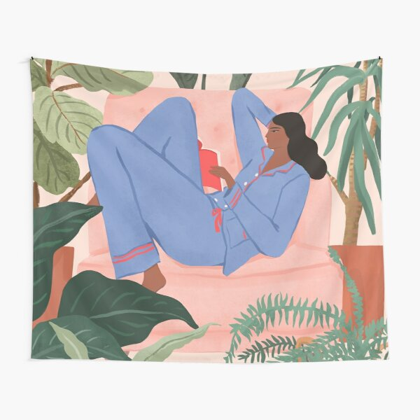 Reading with the Plants II Tapestry