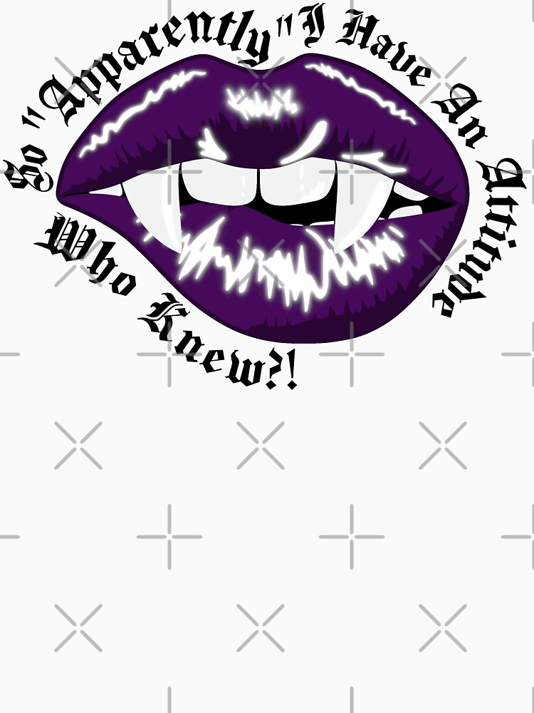 So Apparently I Have An Attitude - Vampire Goth Lips by RabbitLair