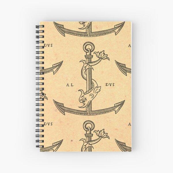 Aldus Manutius Printer Mark Cuaderno de espiral