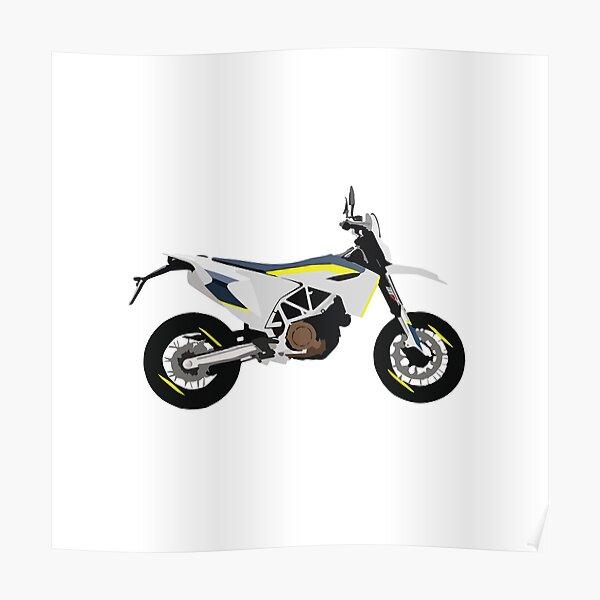 Motorcycle Husqvarna Supermoto 701 Poster