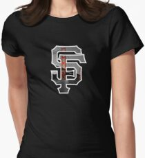 SF Giants Black Womens Fitted T-Shirt