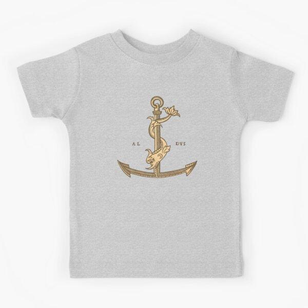 Aldus Manutius Printer Mark Camiseta para niños