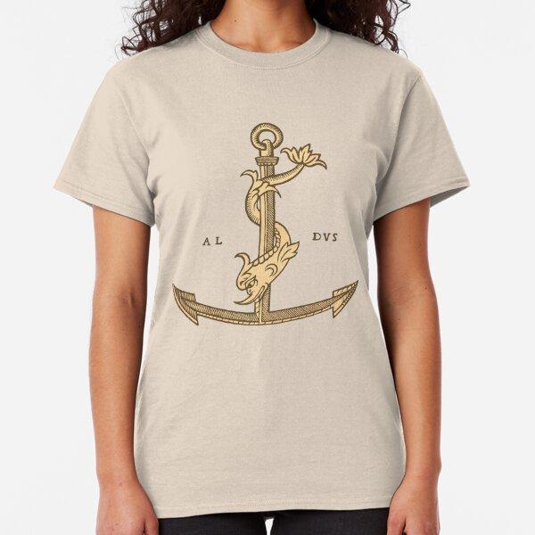 Aldus Manutius Printer Mark Camiseta clásica
