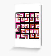 Funky Bright Bold Geometric Pattern Greeting Card