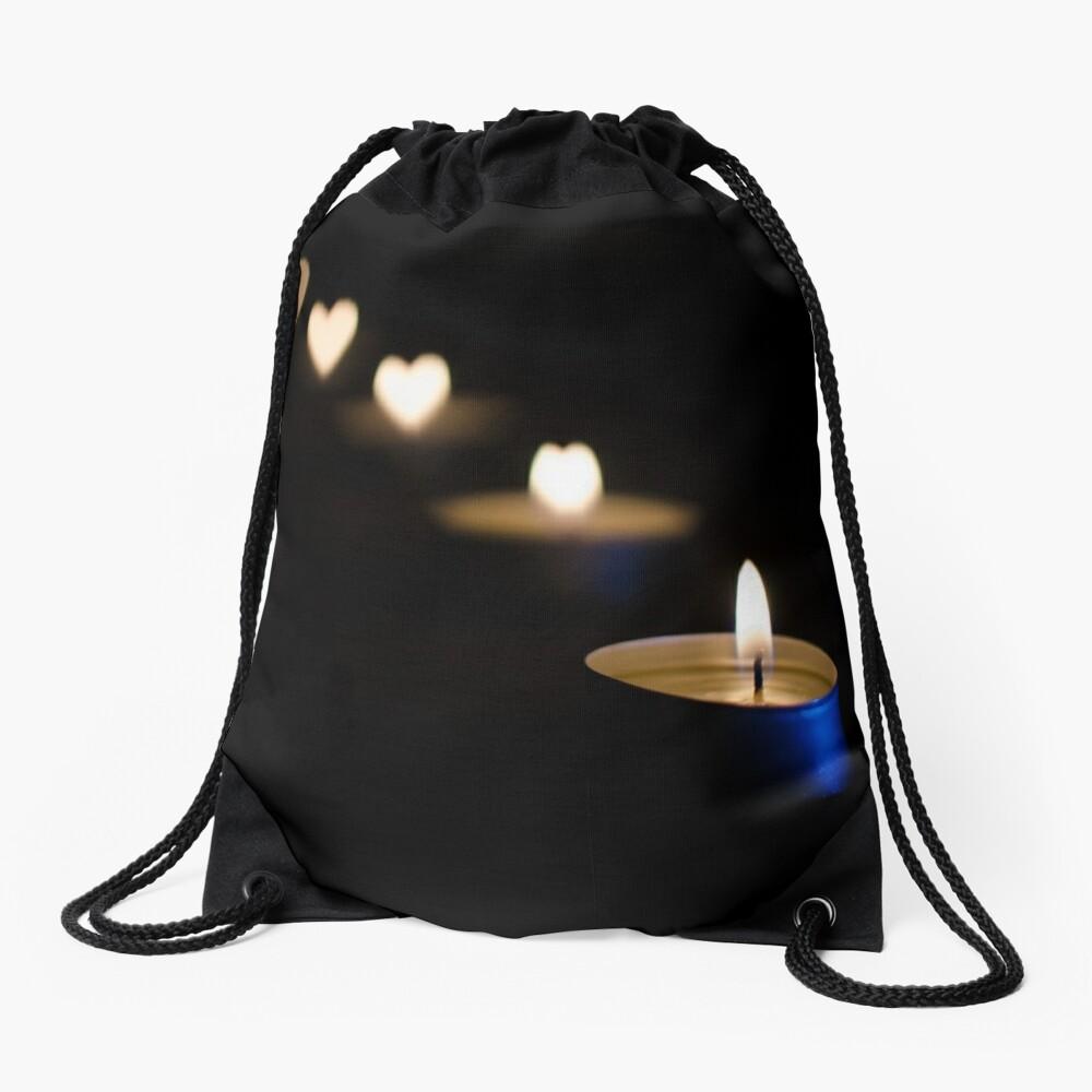 Burning Love Drawstring Bag