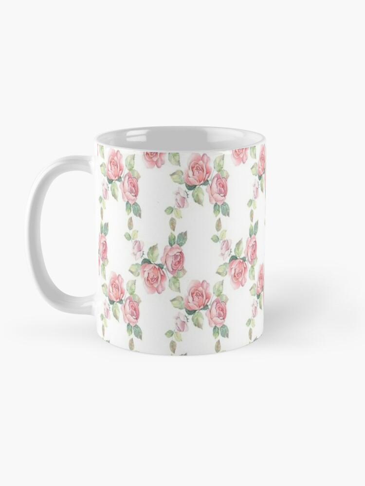 Alternate view of Rose Floral, Shabby Chic, Pink Roses, Pink Flowers Mug