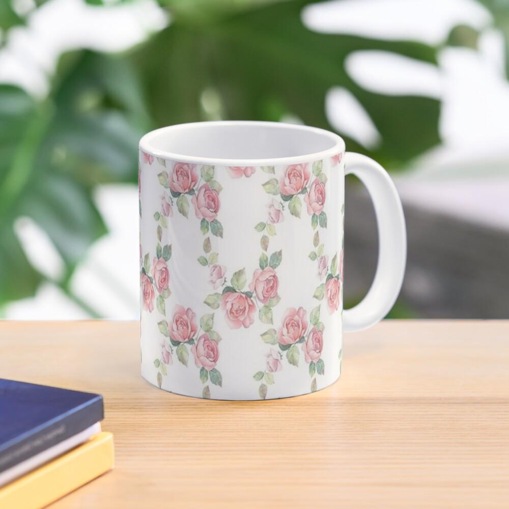 Rose Floral, Shabby Chic, Pink Roses, Pink Flowers Mug
