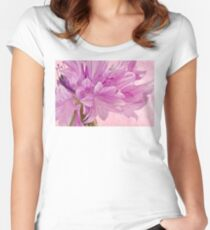 Pink Batchelor's Button Macro Women's Fitted Scoop T-Shirt