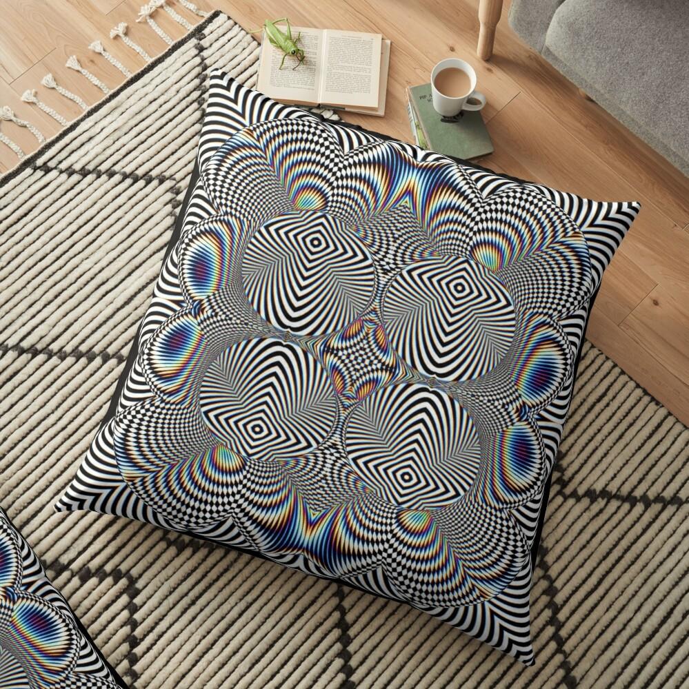 Trippy Pattern Floor Pillow