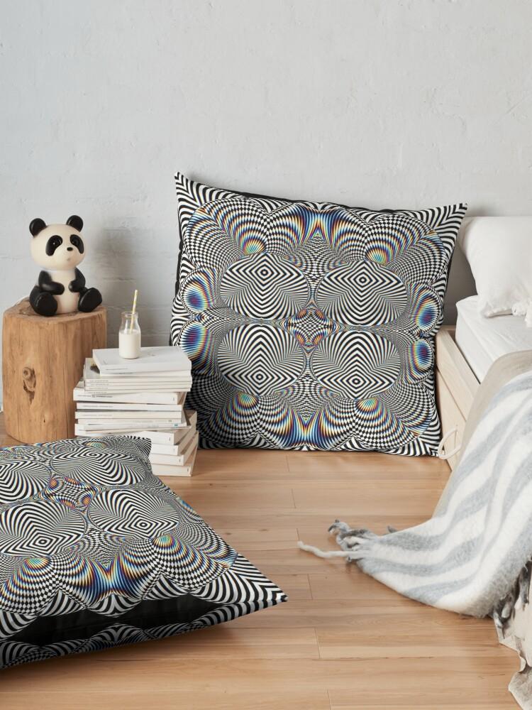 Alternate view of Trippy Pattern Floor Pillow