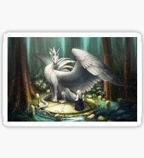 White Dragon - There in the Forest Sticker