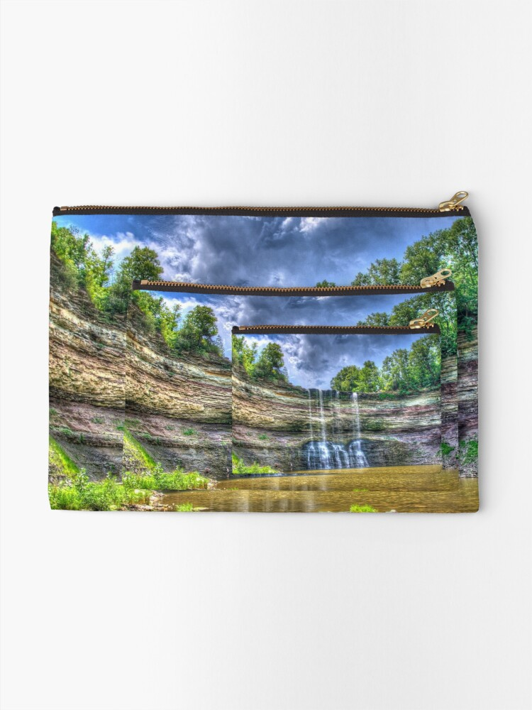 Alternate view of Vibrant waterfall Zipper Pouch