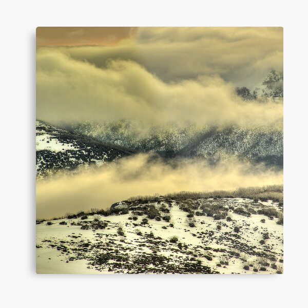 Cloudy ridges, Alpine National Park Metal Print